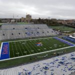 Oct 31, 2015; Lawrence, KS, USA; An overall view of Memorial Stadium before the game between the Oklahoma Sooners and Kansas Jayhawks. Mandatory Credit: John Rieger-USA TODAY Sports ORG XMIT: USATSI-227148 ORIG FILE ID:  20151031_gma_sr9_089.jpg